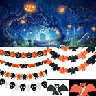 Halloween Party Decor Hanging Props Spider Ghost Pumpkin 3M Paper Banner Garland