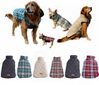 Waterproof Pet Dog Clothes Puppy Winter Warm Plaid Vest Jacket Coat XS-3XL hw US