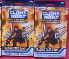TOPPS STAR WARS TCG CLONE WARS ADVENTURES*f s LOT of 2 BOXES*3 CODE CARDS per bx