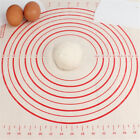 2 Sizes Silicone Dough Rolling Baking Mat Pastry Pad Sheet Non-Stick Red Mark