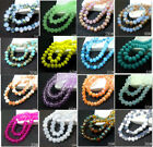 faceted glass beads - Wholesale 100pcs Rondelle Faceted Crystal Glass Loose Spacer Beads  6mm 185Color
