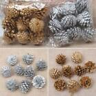 9PCS Natural Pine Cones Pendant Christmas Tree Party Decoration EN24H 01