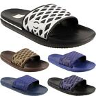 New Mens Slip On Beach Summer Sliders Holiday Open Toe Sandals Flop Flops Sizes