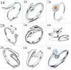 SIZE O (US zise 7) Women's Girl 925 Sterling Silver Ring Fashion Jewelry 9 Style