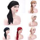 Lady Hat Cotton Hair Loss Head Scarf  Wrap India Muslim Stretch Turban Hat