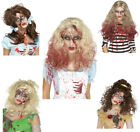 Ladies Zombie Wig Halloween Fancy Dress