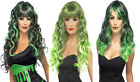Ladies Long Green Wig Witch Wig Halloween Fancy Dress