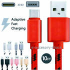 10FT Braided Type C Fast Charging Cable USB-C Rapid Cord Pow