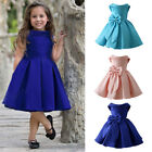 Flower Girl Formal Dress Gown Bowknot Bridesmaid Wedding Dresses for Baby Kids