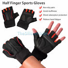 Half Finger Sports Gloves Workout Weight Lifting Exercise Training Fitness Gym
