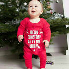 Newborn Baby Boy Girl Romper 1st 2nd Christmas Reindeer Jumpsuit Bodysuit Outfit