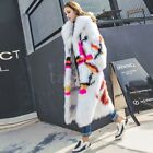 Winter Womens 100% Genuine Fox Fur Long Outwear Fashion Warm Jackets Trench Coat