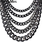 Mens Chain Curb Cuban Stainless Steel  Necklace Bracelet 3/5/7/9/11mm 8-36inch