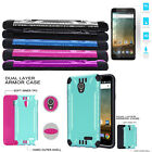 Phone Case for AT&T ZTE Maven 3 Tempered Glass Textured Dual-Layered Cover