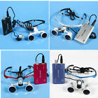 3.5x Occhiali Dental Surgical Binocular Glasses Loupes + LED Headband Light IT