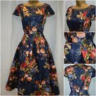 NEW PER UNA M&S DRESS NAVY RED PEACH METALLIC OCCASION CRUISE PROM SIZE 8 - 20