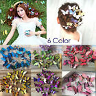 5Pcs Butterfly Hair Clips Bridal Hair Accessories Wedding Photography Costum