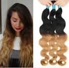 Brazilian Ombre 2 Tone Human Hair Extensions 50g/Bundle Body Wave Hair Weft 3 Pc
