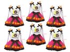 1st 2nd 3rd Thanksgiving Turkey White Top Hot Pink Trim Skirt Girl Outfit NB-8Y
