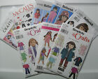 """Assorted Sewing Patterns for  18""""  Doll  Clothes  Your Choice $4.99 Each.  NIP"""