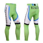 Cycling Long Pants Mens Bike Tights Padded Bicycle Trousers Size S-3XL Green