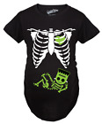 Внешний вид - Maternity Frankenstein Baby Bump Fall Halloween Cute Pregnancy Tshirt (Black)
