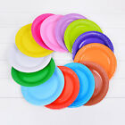 "10PCS ROUND Paper Party Plates 7"" Plain Solid Colours Tableware Events Catering"