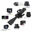 US Tactical 4-12X50EG Rangefinder Reticle Scope/1X22X33 Reticle Sight/Red Laser