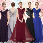 Ever-Pretty Long Chiffon Prom Dresses Evening Formal Party Ball Gown Bridesmaid