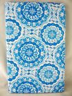 Assorted Sizes Light Blue & White Medallion Vinyl Tablecloth NEW FREE SHIPPING