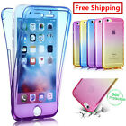 Shockproof  360° Silicone Protective Clear Case Cover For iPhone5C 6 6plus 7plus