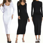 Sexy Womens Button Down Fitted Pure Color Evening Party Dress Bodycon Clubwear