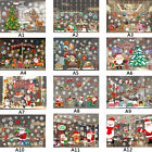 Hot!Christmas Decoration Glass Paste Color Window Glass Background Wall Sticker