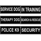 Extra Patches for Dog Harness Label Tags SERVICE DOG Working ID Therapy Police