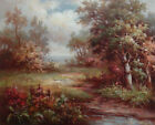 """Oil Painting of Landscape Trees Flowers and Creeks in the Woods 20*24"""""""