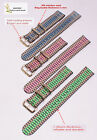 wholesale peacock 3color DG golden buckle 2 Section nylon watch band watchstrap