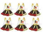 My 1ST 2ND 3RD Thanksgiving White Top Brown Red Yellow Girl Skirt Set 1-8Y