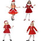 Girls Santa Costume Christmas Nativity Fancy Dress - 01- 38196