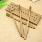 5-10pcs Pure Bamboo Natural Toothbrush Environmentally Eco Friendly Adult Medium