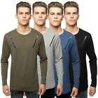 Loyalty & Faith Mens Long Sleeve T-Shirt Crew Neck Zip Biker Branded Tee Top