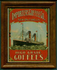 IMPORTERS COFFEE - OLD NEW ORLEANS LABEL REPRO FRAMED