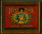 FRENCH MAID COFFEE AND CHICORY CARD FRAMED