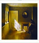 "PETER ILSTED ""A Girl Reading"" ON CANVAS sunlite room various SIZES available"