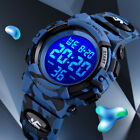 Kids Boys Girls LED Digital Sports Wrist Watch Child Chrono Waterproof Stopwatch