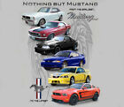 Ford Mustang Nothing But Mustang SILVER Adult SWEAT SHIRT HOODIE