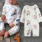 Newborn Baby Rompers Toddler Long Sleeve Cotton Jumpsuit Bodysuits Clothes 0-24M