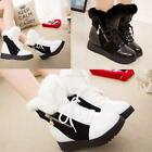 Women Winter Flat Faux Fur Synthetic Leather Boots Zip Snow Boots High EN24H