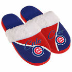 Chicago Cubs Women's Cursive Colorblock Slippers - MLB