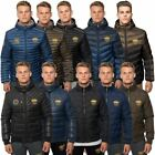 Santa Monica Polo Club Mens Padded Quilted Jacket Zip Up Casual Winter Coat