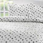 Brielle 100% Cotton Sateen Black Circlets Bed Linen Collection NEW